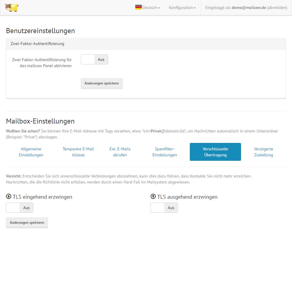 Servercow - mailcow Groupware